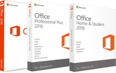 """Microsoft Office 2016 für Windows: """"Standard"""", """"Home & Student"""" oder """"Professional Plus"""" bei Lizenzworld"""