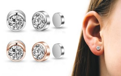 One or Two Pairs of Philip Jones Magnetic Earrings with Crystals From Swarovski®