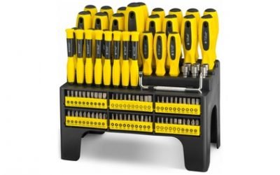100-Piece Screwdriver Set with Storage Stand