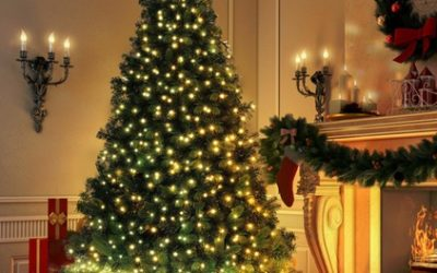 4ft, 5ft or 6ft Christmas Tree with 100 LED Lights and Stand