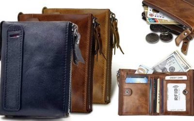 One or Two Men's RFID Genuine Leather Wallets