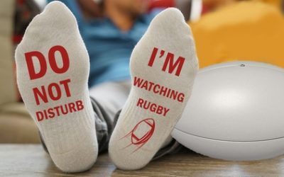 Up to Four Pairs of I'm Watching Rugby Socks