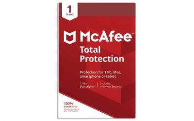 McAfee Total Protection 2021 voor 1 apparaat voor 1 jaar