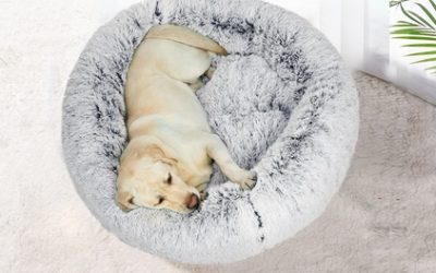 $33 for a Pet Calming Bed with Removable Cover in Choice of Size and Colour (Don't Pay up to $110)