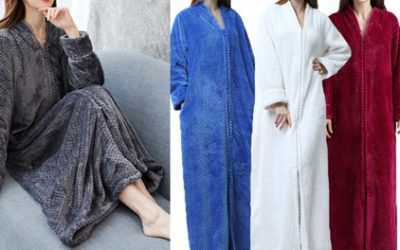 Plush Zip-Up Lounge Robe: One ($39.95) or Two ($75)
