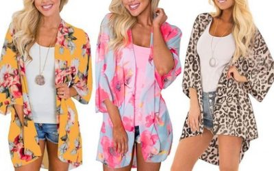 Kimono-Style Bikini Cover Cardigan