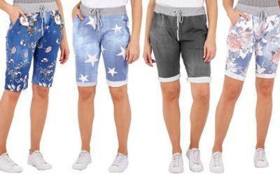 Women's Printed Turn Up Lounge Shorts