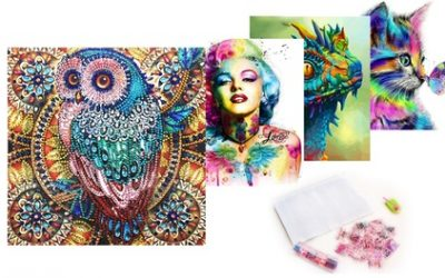 One or Two Rhinestone Painting Kits