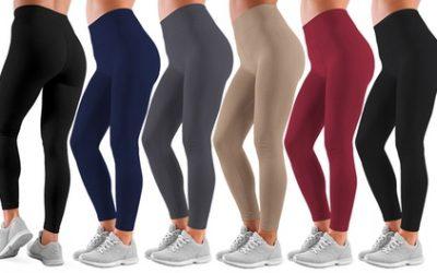 Women's Full-Length Warm Fleece-Lined Seamless Leggings