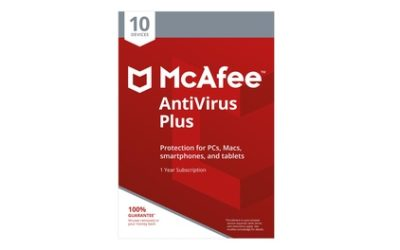 McAfee AntiVirus Plus für 10 Geräte für ein Jahr zum Downloaden