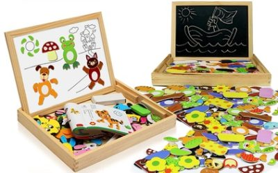 One or Two Kids' Multifunctional Wooden Drawing Board Sets