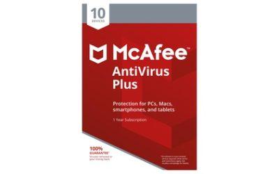 McAfee AntiVirus Plus – 10 apparaten voor 1 jaar