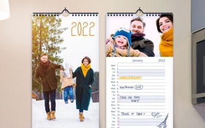 """Up to Five 5""""x12"""" or 5""""x17"""" Personalised Kitchen Calendars from Printerpix (Up to 66% Off)"""